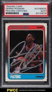 1988 Fleer Basketball Dennis Rodman ROOKIE RC PSA/DNA AUTO #43 PSA Auth