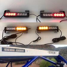 """2 X 10"""" Rear Chase Led Light Bars W Amber Strobe """" Trophy Truck """" Style  UTV SxS"""