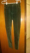 Vtg Ralph Lauren Dk Green Velvet Jean Pants 6