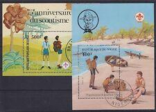 Pfadfinder Niger u. Kongo 2 Block 1982, gest., Scout, used