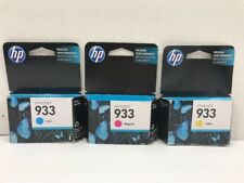 HP 933 Cyan Magenta Yellow Color Ink Genuine Expired 2016