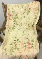 Vintage Laura Ashley Pure Linen English Print Fabric, 7 yards
