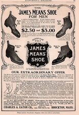 1904 A AD CHARLES EATON CO BROCKTON MA JAMES MEANS SHOES