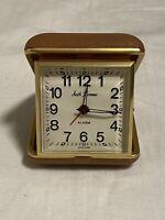 Vintage Seth Thomas Square Clock Travel Alarm Pocket Folding Watch Germany