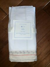 NWT Pottery Barn Kids Baby MILO Embroidered Cotton Crib Bed Skirt