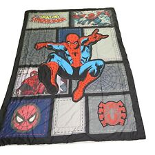 "VTG The Amazing SpiderMan ""Jump Kick"" Kids Comforter Twin 84""x 60"" Super Soft"