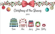 Personalised Christmas Print jumper Wall present xmas Christmas Gift family