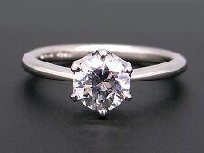 T & Co Platinum Round Diamond Engagement Promise Ring Semi Mounting