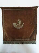 More details for rare 1930's kings shropshire light infantry music stand banner