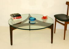 Vintage/Retro Wood Less than 60cm Round Coffee Tables