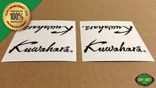 SAVE $5 on 1 PAIR! Kuwahara SCRIPT BMX 1985+ Handlebar/Seat Post Decal (Black)