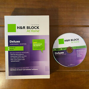 H&R Block 2012 Deluxe Federal State Homeowners Investors Imports TurboTax Mac PC
