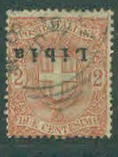 LIBIA USED 1912  - inverted overprint .