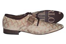 Carlo Ventura 2250 Italian mens beige laser print nubuck lace up  buckled shoes