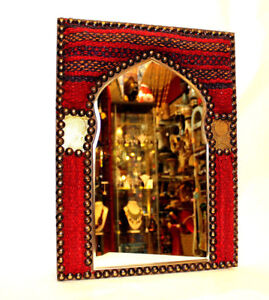Wall Egyptian Mirror Beautiful Authentic Unique Red Rug Handmade Nice Gift Decor
