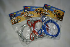 "Pet ""Tie Out Cable"" 6 feet long cable-Dog/Puppy/Cat/Kitten/Rabbit/Gift/Walk/Run"