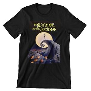 The Nightmare Before Christmas Movie Poster Halloween T Shirt Top