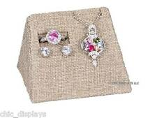 MODERN BURLAP COMBO MINI DISPLAY SET JEWELRY DISPLAY RING EARRING PENDANT HOLDER