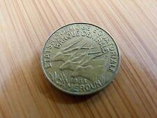 Pièce monnaie CAMEROUN CAMEROON afrique centrale 5 Francs 1961 état voir scan
