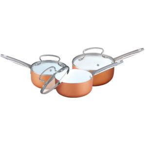 COOKWARE SET SAUCEPAN FRYING PAN POT STAINLESS STEEL NON STICK GLASS CERAMIC NEW