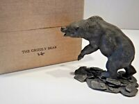 Vintage Franklin Mint Pewter Grizzly Bear 1975 Wildlife of North America