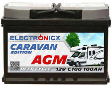 Electronicx Caravan Edition-2 Batteria AGM 100 Ah 12V Roulotte Barca Fornitura