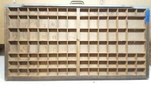 Letterpress Wood Printer Type Drawer Double Cap Tray Shadowbox    CA49  12#