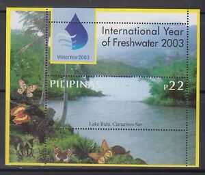 Philippine Stamps 2003 International Year of the Freshwater ss MNH