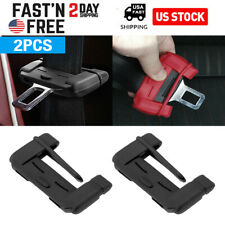 2-Black Car Seat Belt Buckle Clip Silicone Anti-Scratch Cover Safety Accessories