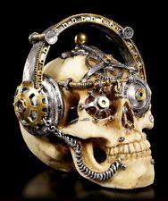 Steampunk Totenkopf Figur - Techno Talk klein - Deko Schädel Skull