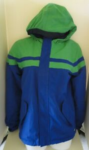 Lands' End Squall Winter Coat Parka Blue & Green Size 14-16 Boys Large Youth