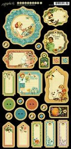 Graphic 45 Children's Hour Collection Seasons Birthday Play Cardstock Stickers