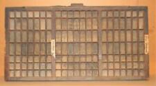 Letterpress Hamilton Triple Cap Case Print Type Drawer Shadowbox  CA13 12#