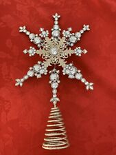 Silver Crystal Tree Topper Pier One 14 Inches