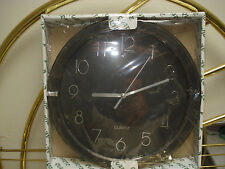 Quartz Wall Black Clock with Silver Numerals Glass Lens Battery's Diam. 10 in