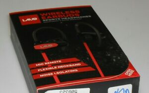 LAUD LAUDSPORT1-RED Wireless Earbuds Ear Hook Bluetooth Sports Music Headset Red