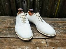 New listing Mansfield 1940s 1950s Vintage White Buck Plain Toe Oxford Shoes 8 C Swing