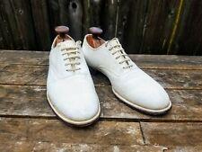 Mansfield 1940s 1950s Vintage White Buck Plain Toe Oxford Shoes 8 C Swing