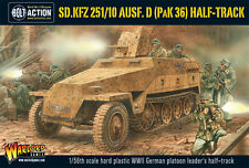 ** Nuovo Con Scatola ** WARLORD GAMES Bolt ACTION tedesco Sd. KFZ. 251/10 Ausf D Pak 36 Halftrack