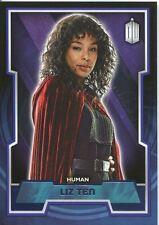 Doctor Who 2015 Purple Parallel [99] Base Card #137 Liz Ten