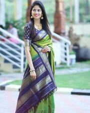 Banarasi Sarees For Weddings, Light weight, beautiful green colour saree