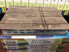 Biblia de Estudio Arco Iris,REINA 1960 Gris Pizarra/oliva Símil Piel Con índice