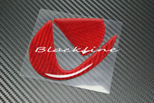 For 15+ Lexus RC F 300 350 2-DR Red Carbon Fiber Trunk Lid Emblem Decal Insert
