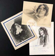 DAMIA Chanteuse PHOTO Krull AUTOGRAPHE Foujita 3 Docs 1930s