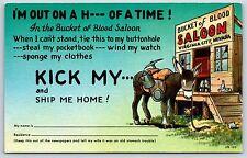 Bucket of Blood Saloon Comic Virginia City, Nevada Chrome Postcard Unused