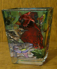 """Amia Studios Votive #1058 BIRDS, NEW/Box From Retail Store, 3""""  Hand Painted"""