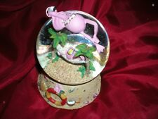 "Musical Pink Flamingo Water Snow Globe ""O Tannenbaum"""