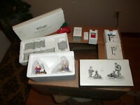 LOT OF 5 DEPT.  56 SNOW VILLAGE ACCESSORY SETS FIREWOOD, VW, MAIL, SIGN,  FENCE