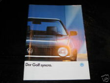 Prospekt VW Golf II / 2 Syncro von 1987