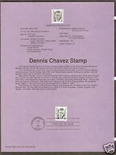 # 2186 DENNIS CHAVEZ, Great American Series 1991 Official Souvenir Page